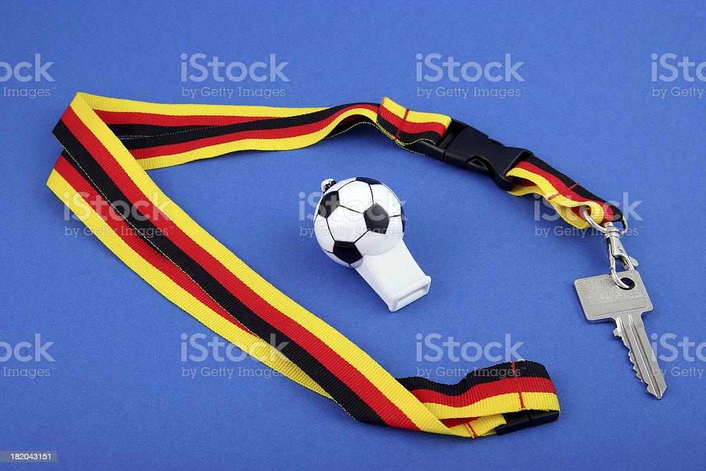 German World soccer game key stock photo