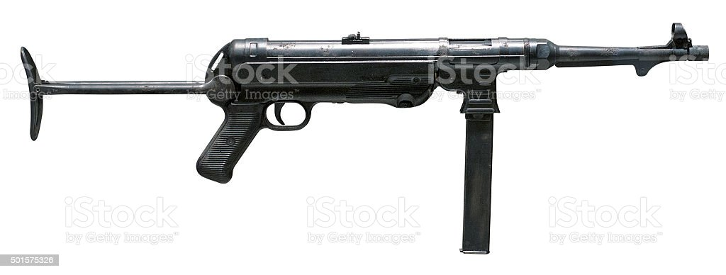 German World War 2 machine gun stock photo