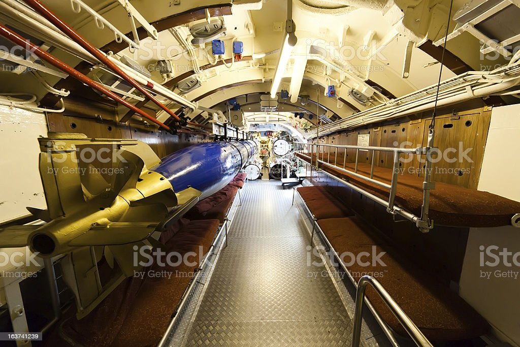 German World War 2 Submarine Type VIIC/41   Torpedo Compartment Stock Photo