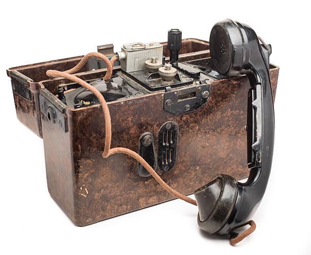 Alemão Mundo Guerra 2 Telefone de campanha - foto de acervo