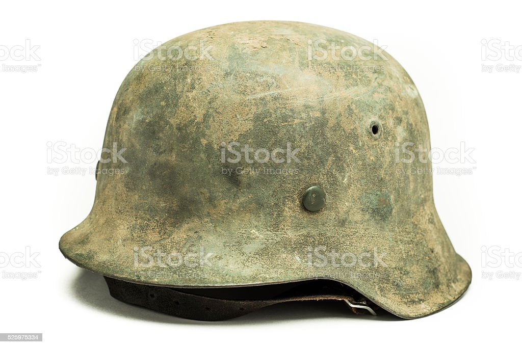 German World War Two Helmet stock photo