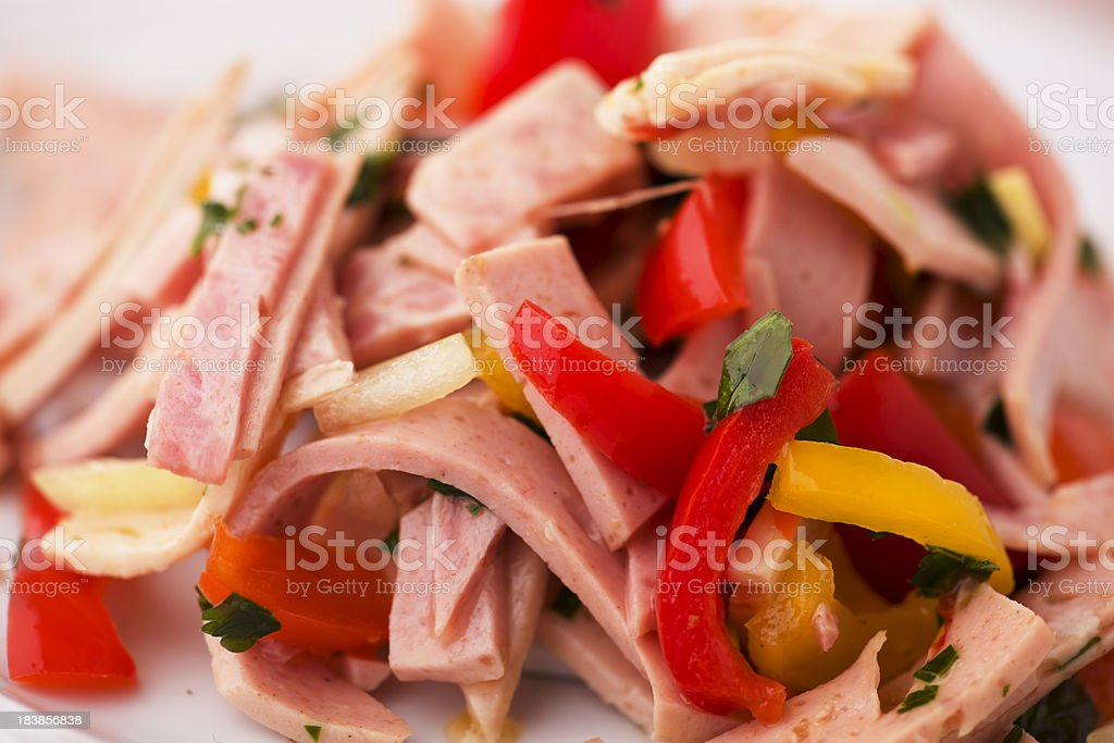 German Wurst Salad stock photo