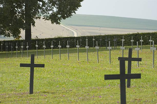 German WW1 cemetery stock photo