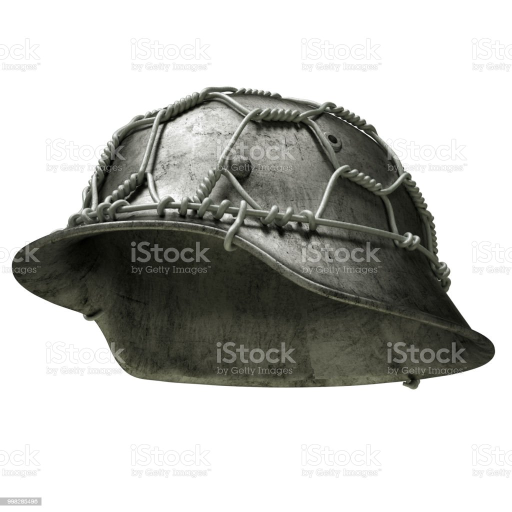 German ww2 military helmet - Stock Image stock photo
