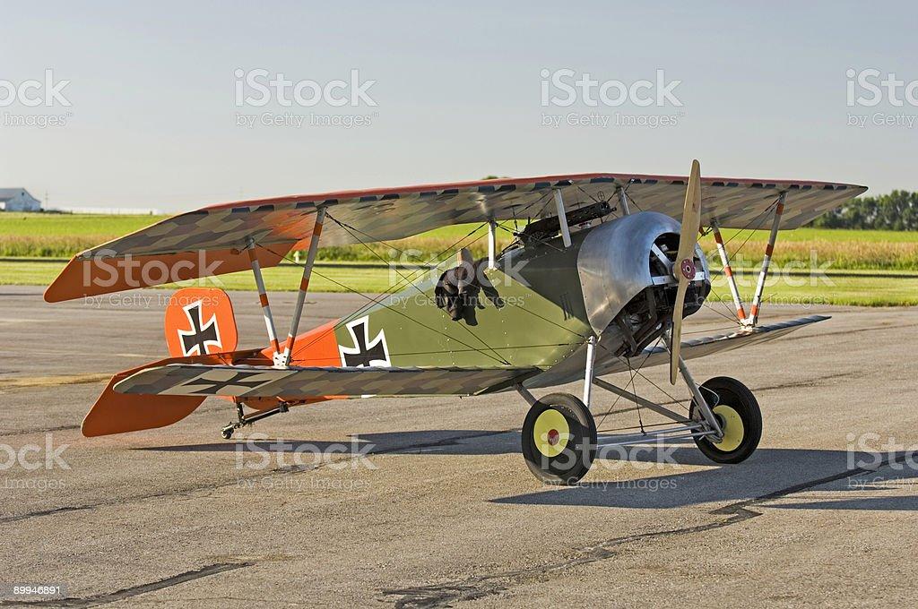 German WWI Biplane Parked royalty-free stock photo