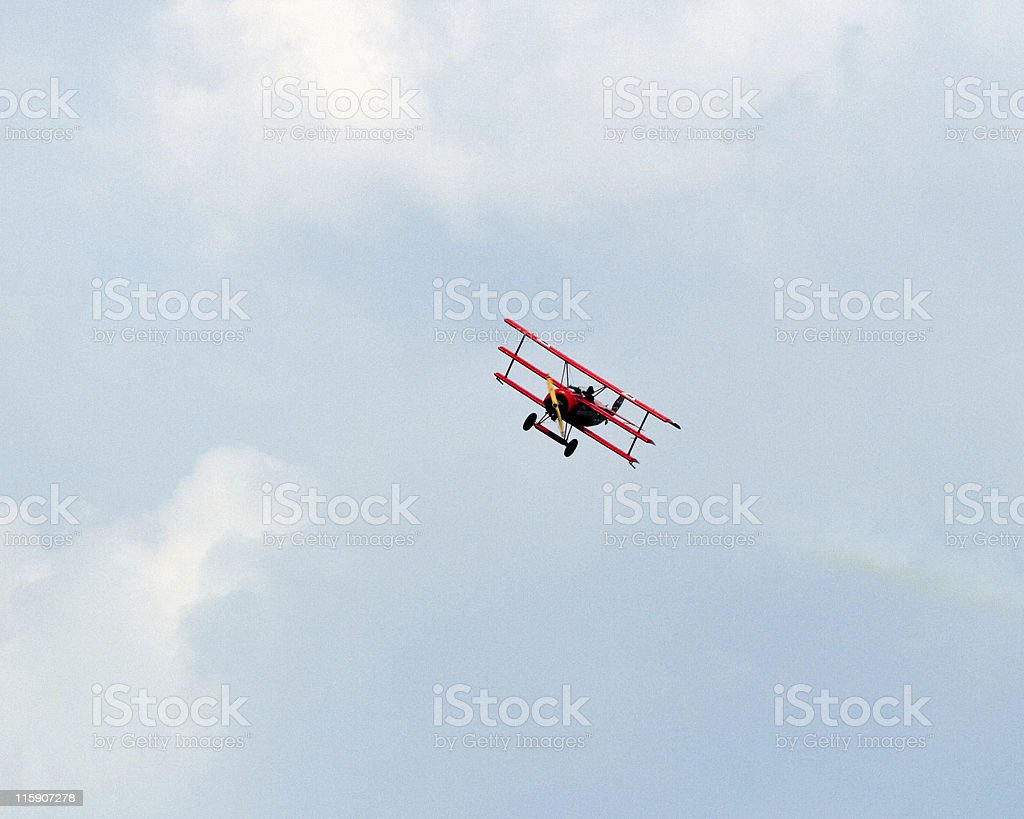 German WWI triplane the Red Baron royalty-free stock photo