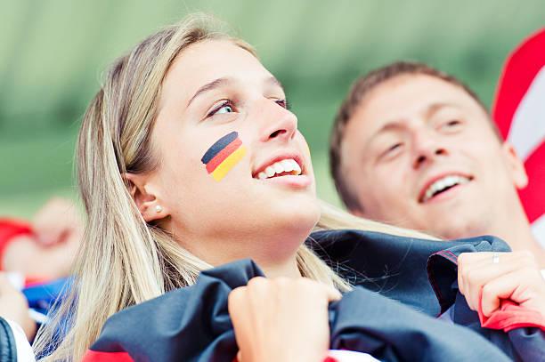 Deutsche junge Unterstützer im Stadion World Cup – Foto