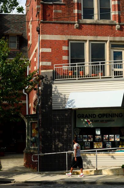 Germantown Avenue in Mt Airy, Philadelphia, PA stock photo