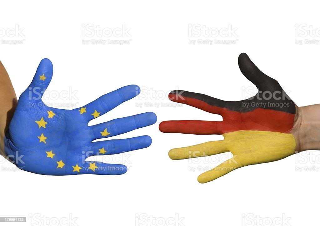 독일 및 유럽 royalty-free 스톡 사진