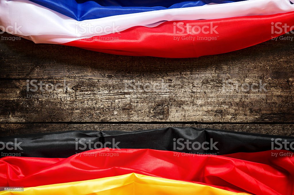 Germany and France Flag, Concept Coalition and europe stock photo
