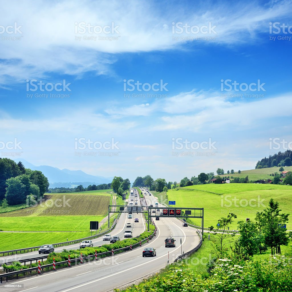 Germany Autobahn stock photo