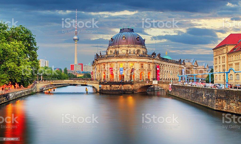 Germany, Berlin at twilight stock photo