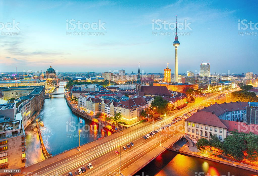 Germany, Berlin cityscape stock photo
