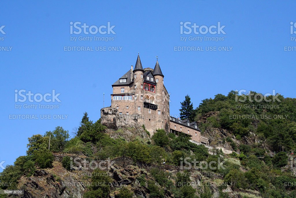 Germany: Burg Katz stock photo