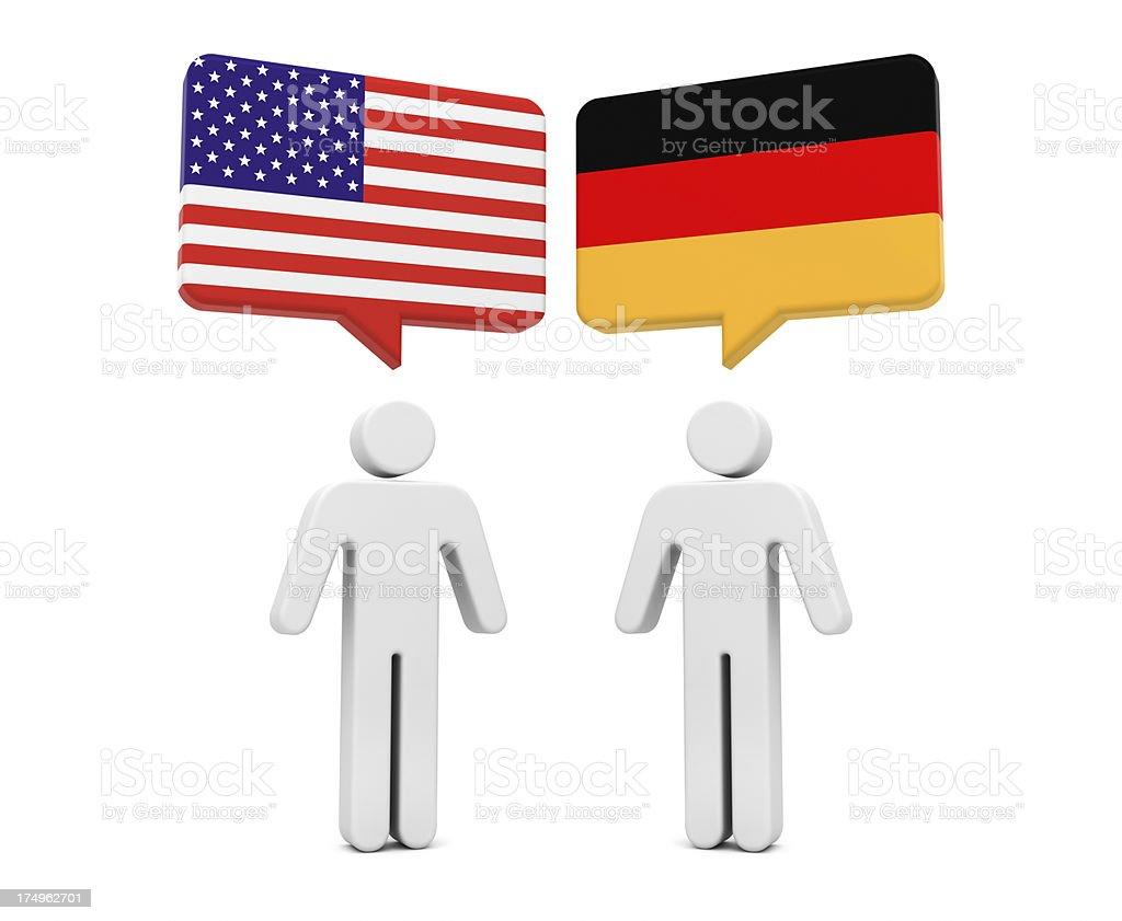 USA Germany Concept royalty-free stock photo