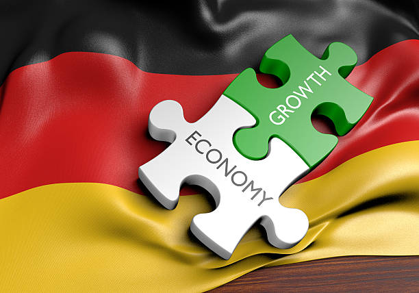 Germany economy and financial market growth concept, 3D rendering stock photo