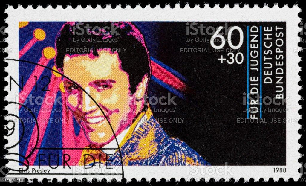 Germany Elvis Presley postage stamp stock photo