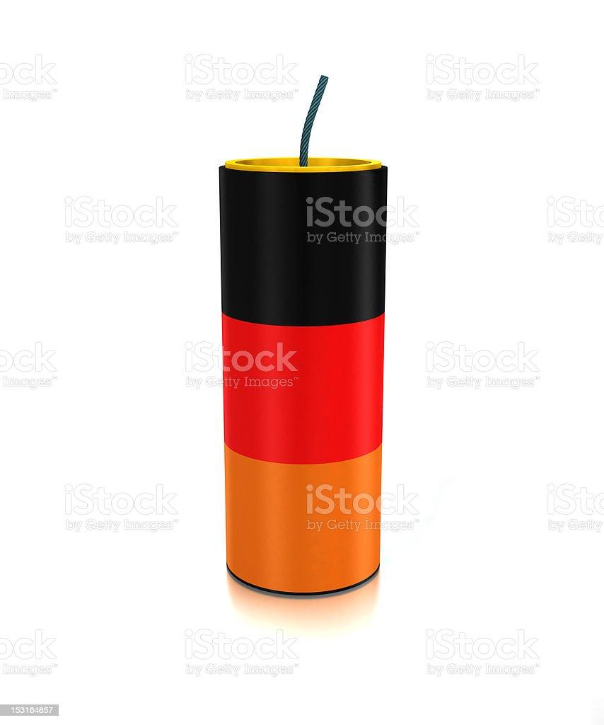 Germany firecracker stock photo