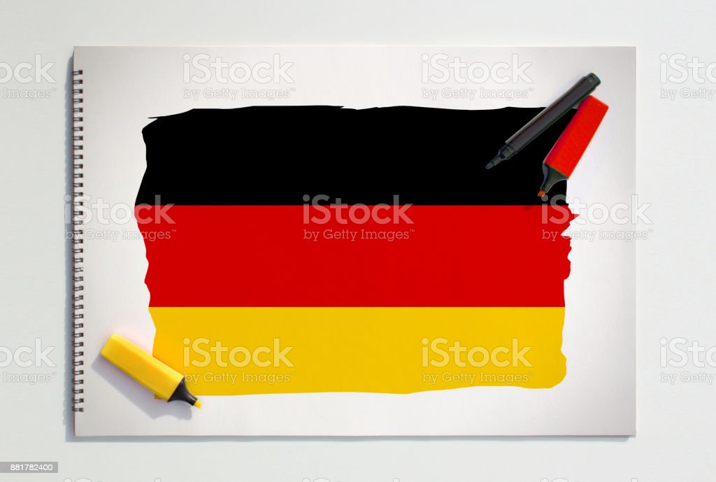 Germany Flag Drawing stock photo
