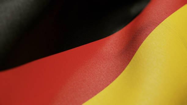 Germany Flag German Realistic 3D Illustration Stock Photo