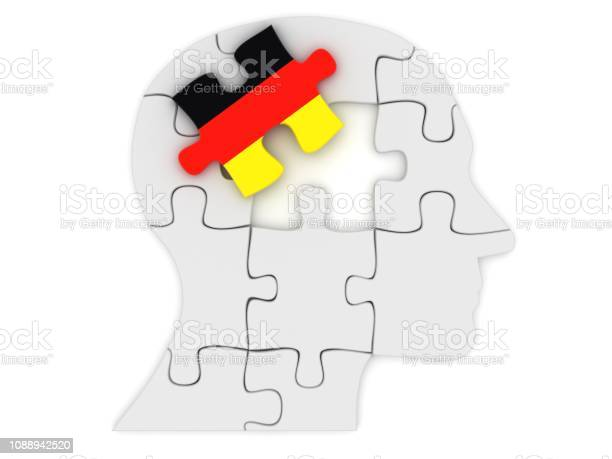 Germany flag learn german language head puzzle silhouette mind brain picture id1088942520?b=1&k=6&m=1088942520&s=612x612&h=puosjnwffu zrf by9cchxad5ogxjknvbanmuhd5da8=