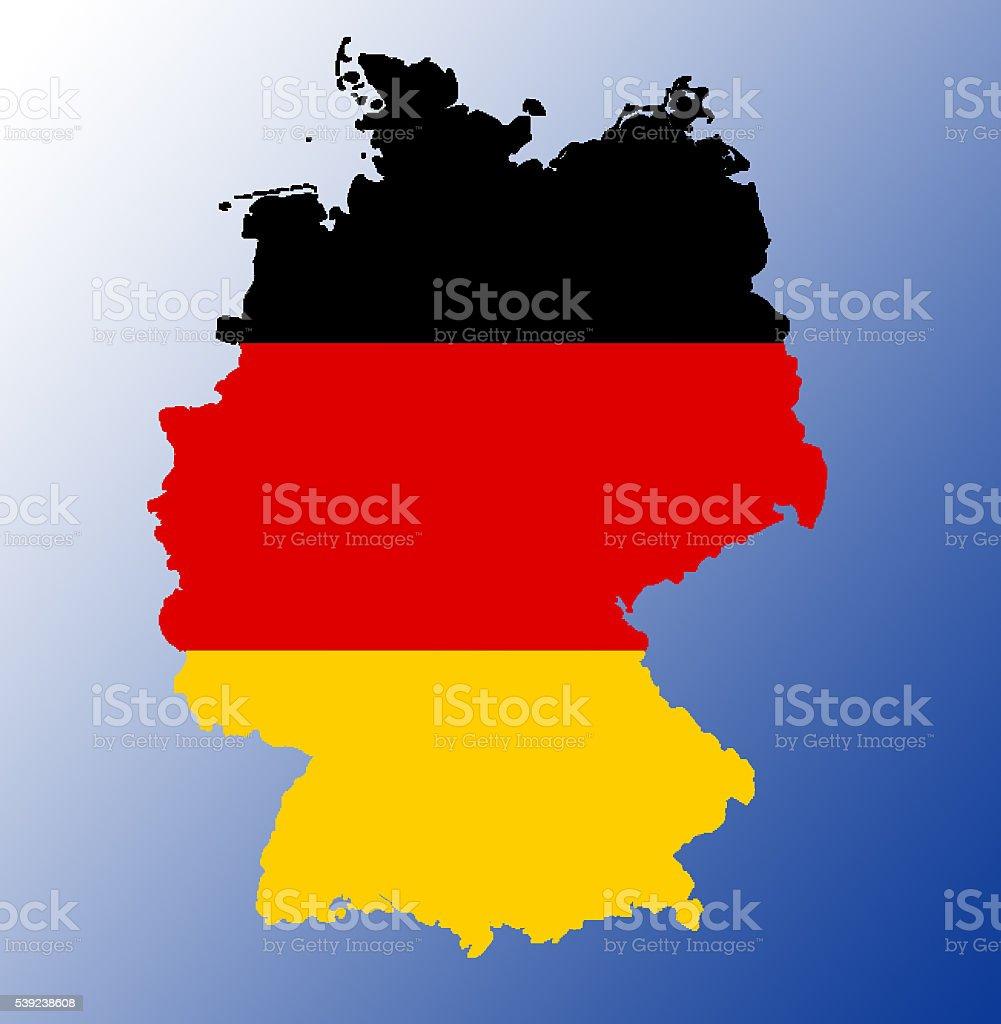 Mapa bandera Alemania foto de stock libre de derechos