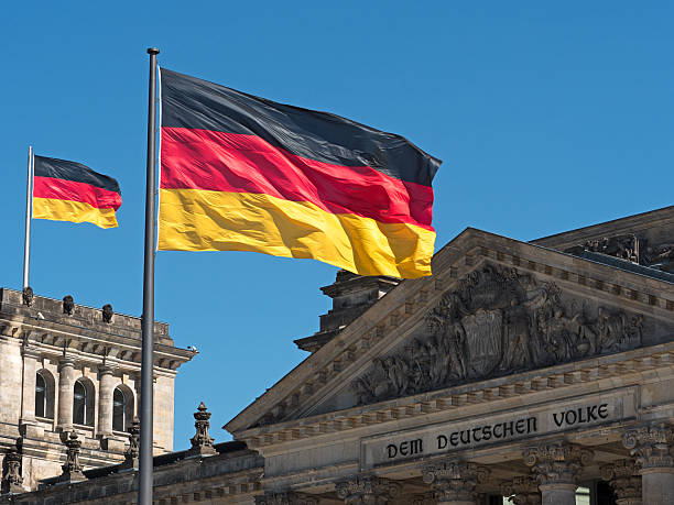 Germania Bandiera del Reichstag - foto stock