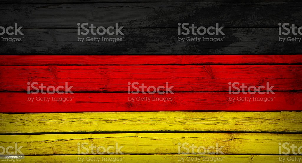 Germany flag painted on wooden boards royalty-free stock photo