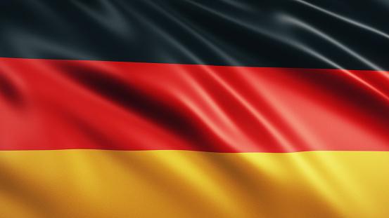 3d Render Germany Flag (close-up)