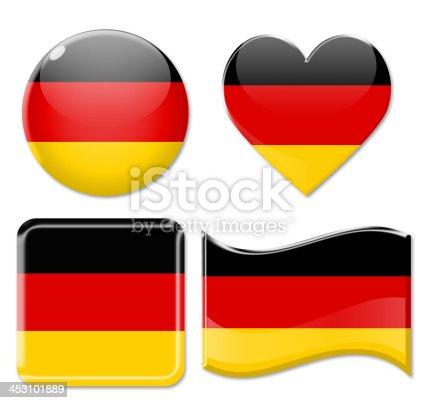 istock Germany Flags & Icon Set 453101889