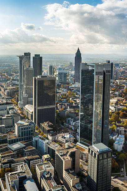 Germany Frankfurt city skyline stock photo