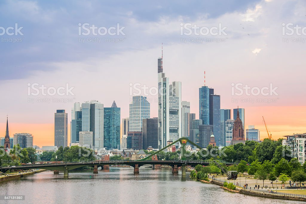 Germany Frankfurt skyline – Foto