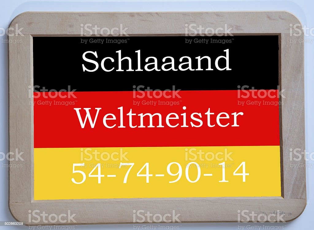Germany is soccer world champion 1954 1974 1990 2014 stock photo