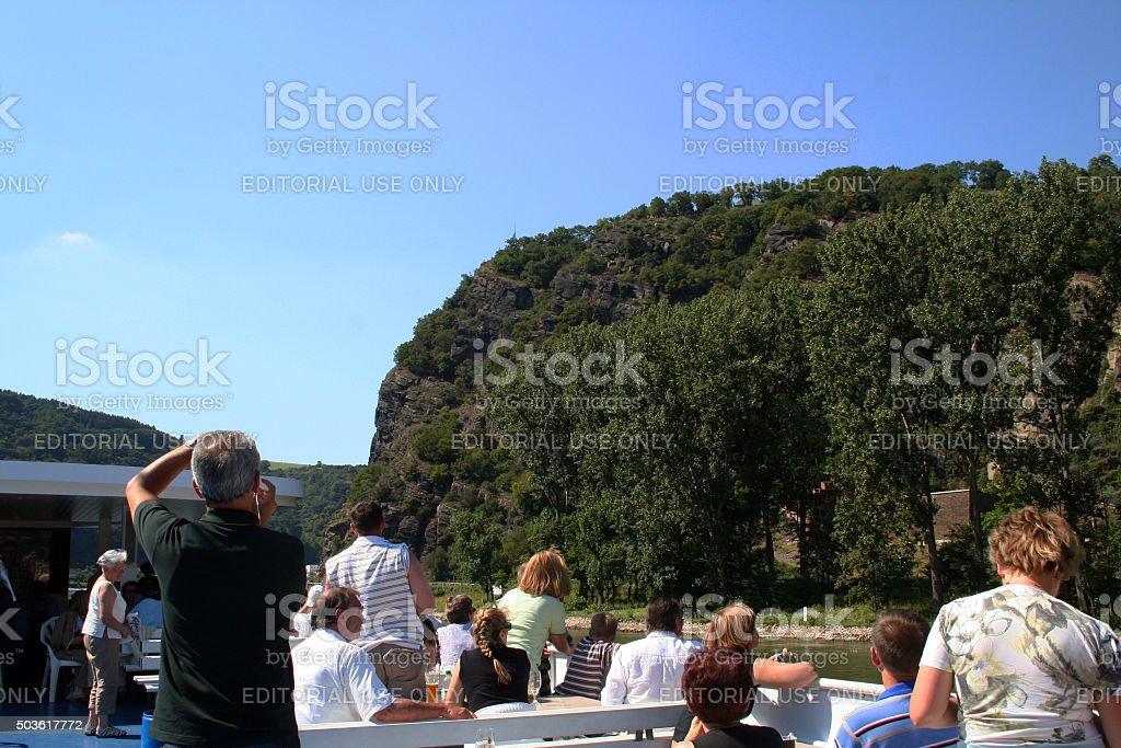 Germany: Lorelei on the Rhine stock photo