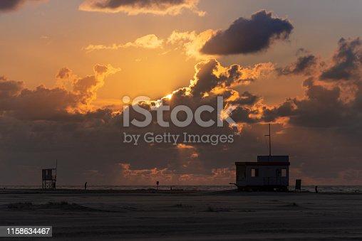 istock Germany, Lower Saxony, East Frisia, Juist, sunset on the beach. 1158634467