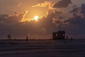 istock Germany, Lower Saxony, East Frisia, Juist, sunset on the beach. 1158635569