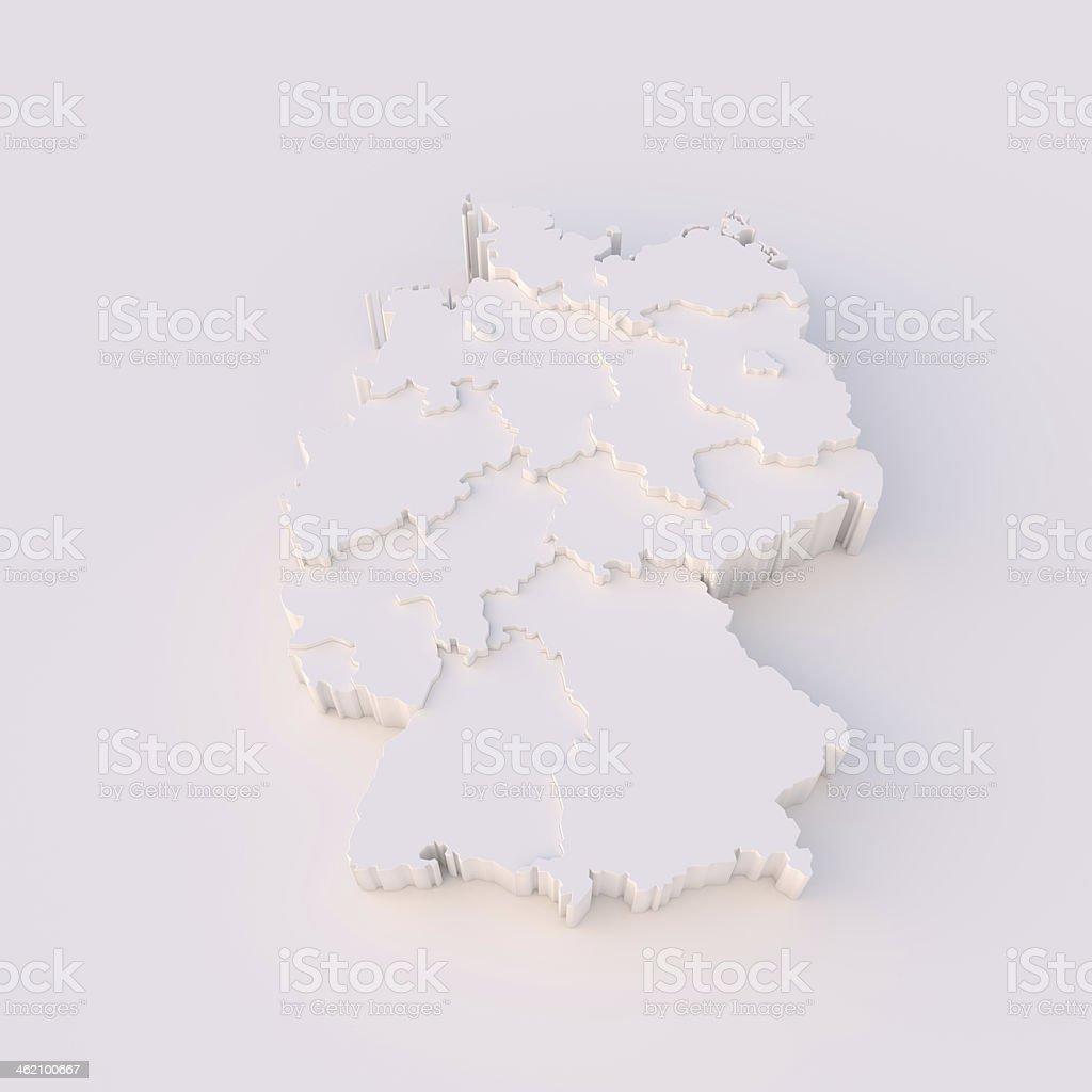 Deutschland-Karte 3D mit Staaten stepwise und clipping path – Foto