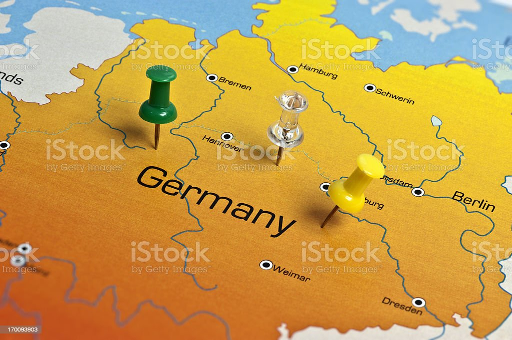 Germany Map royalty-free stock photo