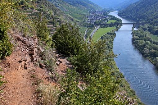 Germany, Moselle, via ferrata calm down