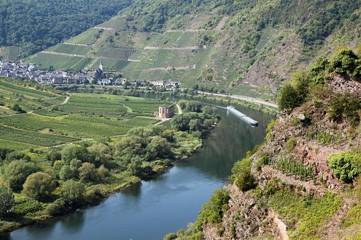 Germany, Moselle, via ferrata Calmont