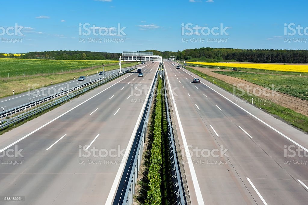 Germany motoway on a sunny day stock photo