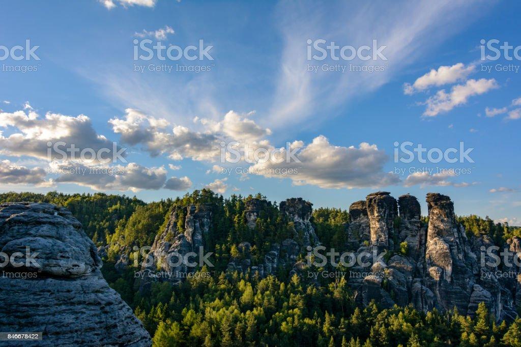 Germany, National Park in Saxony - Saxon Switzerland stock photo