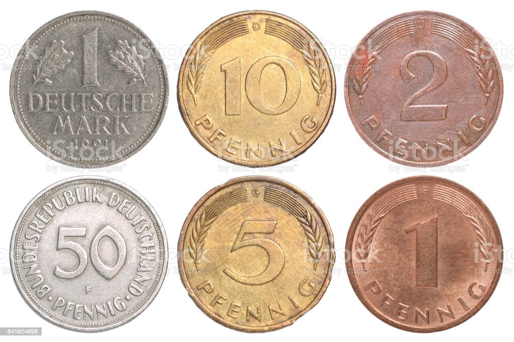 Germany old coin stock photo