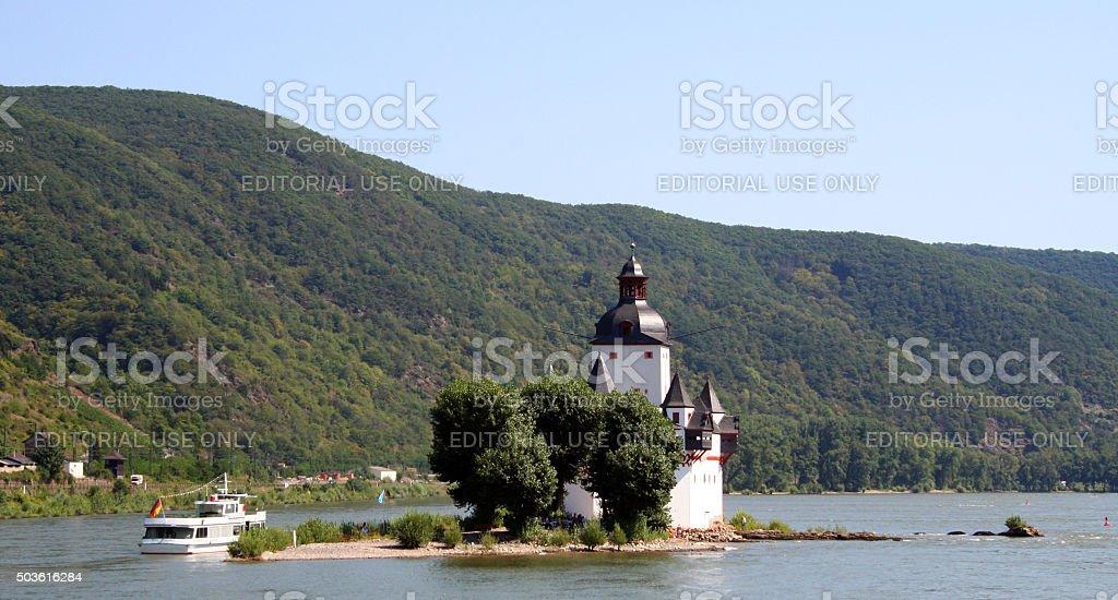 Germany: Pfalzgrafenstein Castle stock photo