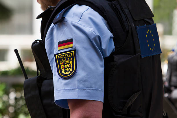 alemania de policía - alemania fotografías e imágenes de stock