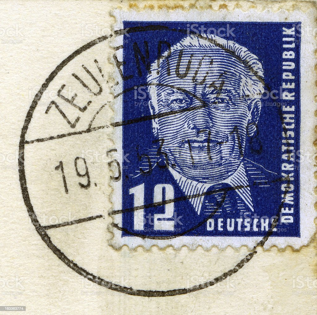 Germany postage stamp stock photo
