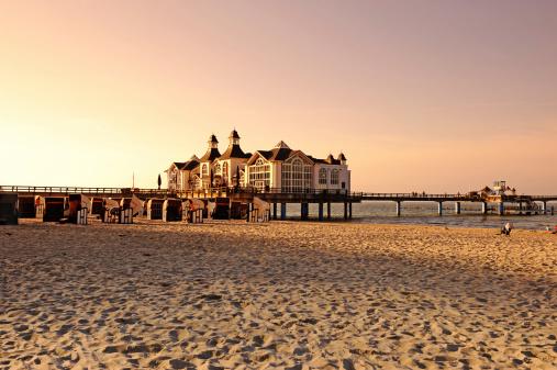 Germany Rügen Beach Sea Pier Sellin Sunrise Summer