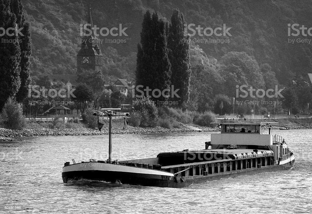 Germany River Ship royalty-free stock photo