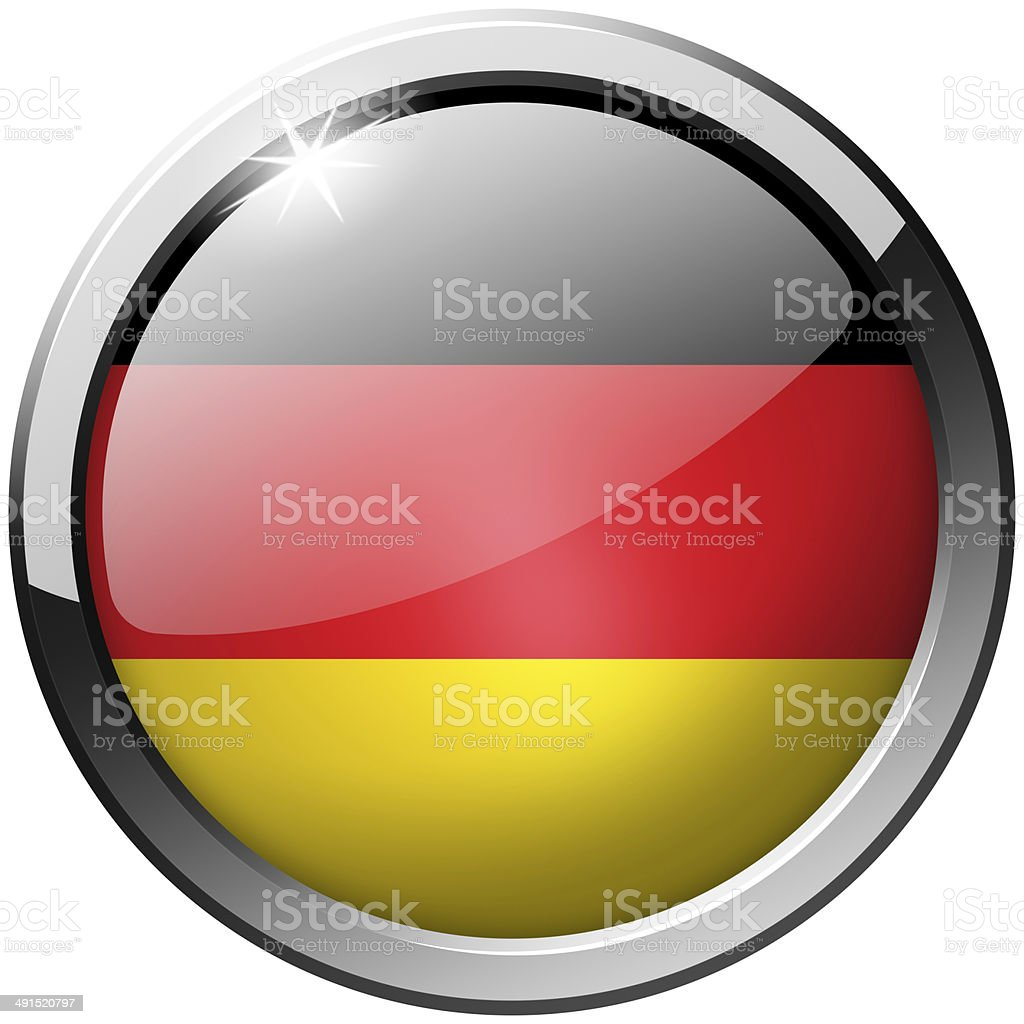 Germany Round Metal Glass Button stock photo