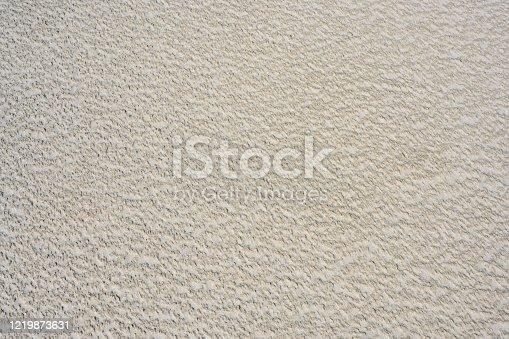 Deutschland, Sandstruktur an einem Sandstrand.